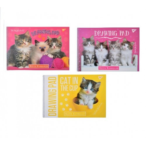 Альбом А4 YES 28арк. 130388 для рисования на спирали Fluffy pets (3/78)