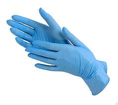 Перчатки нитриловые неопудренные голубые размер XS-S, 100 шт.