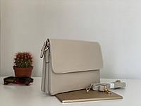 Модная женская бежевая сумка клатч-конверт через плечо кроссбоди Pretty Woman