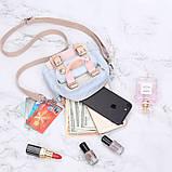 Мини - сумочка Doughnut пудра  Код 10-2195, фото 7