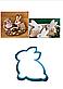 Вырубка кондитерская для пряника  кролик  зайка (0040) 8*8 см, фото 5