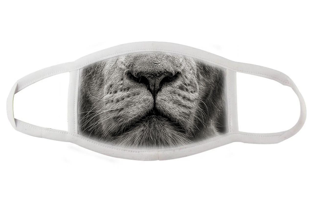 Тканевая маска для лица морда льва