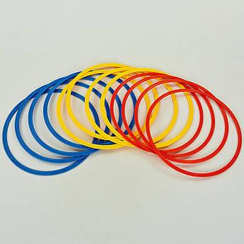 Кольца тренировочные (пластик, d-40см, в комплекте 12шт.) PZ-C-0815-40