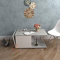 Столик журнальный, кофейный столик с дверцей, придиванный стол из ДСП. КОД:S-8