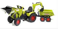 Детский трактор на педалях Falk 1010W Claas Axos