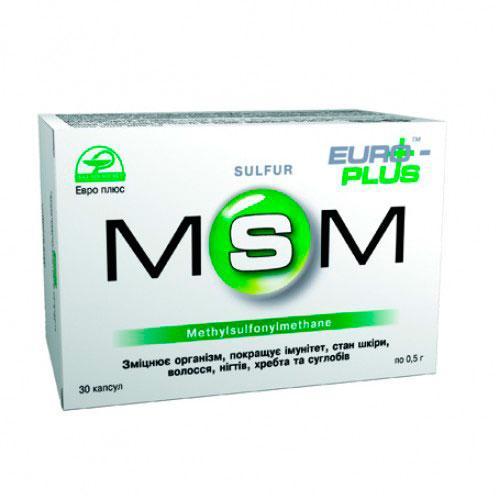 Диетическая добавка «MSM» (метилсульфонилметан) 30капс мсм