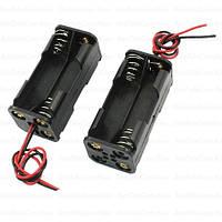 "Корпус для четырех батареек типа ""АА"", 20x20х51мм, с проводом 15см"