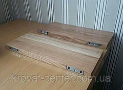 Навісна полиця в дитячу з прихованим кріпленням з натурального дерева від виробника, фото 3