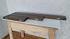 Навісна полиця в дитячу з прихованим кріпленням з натурального дерева від виробника, фото 2