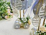 Пасхальный сувенир - Уточки на подставке с колесиками, HandMade 25см, фото 2