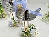 Пасхальный сувенир - Уточки на подставке с колесиками, HandMade 25см, фото 3