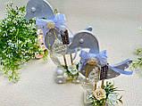 Пасхальный сувенир - Уточки на подставке с колесиками, HandMade 25см, фото 5