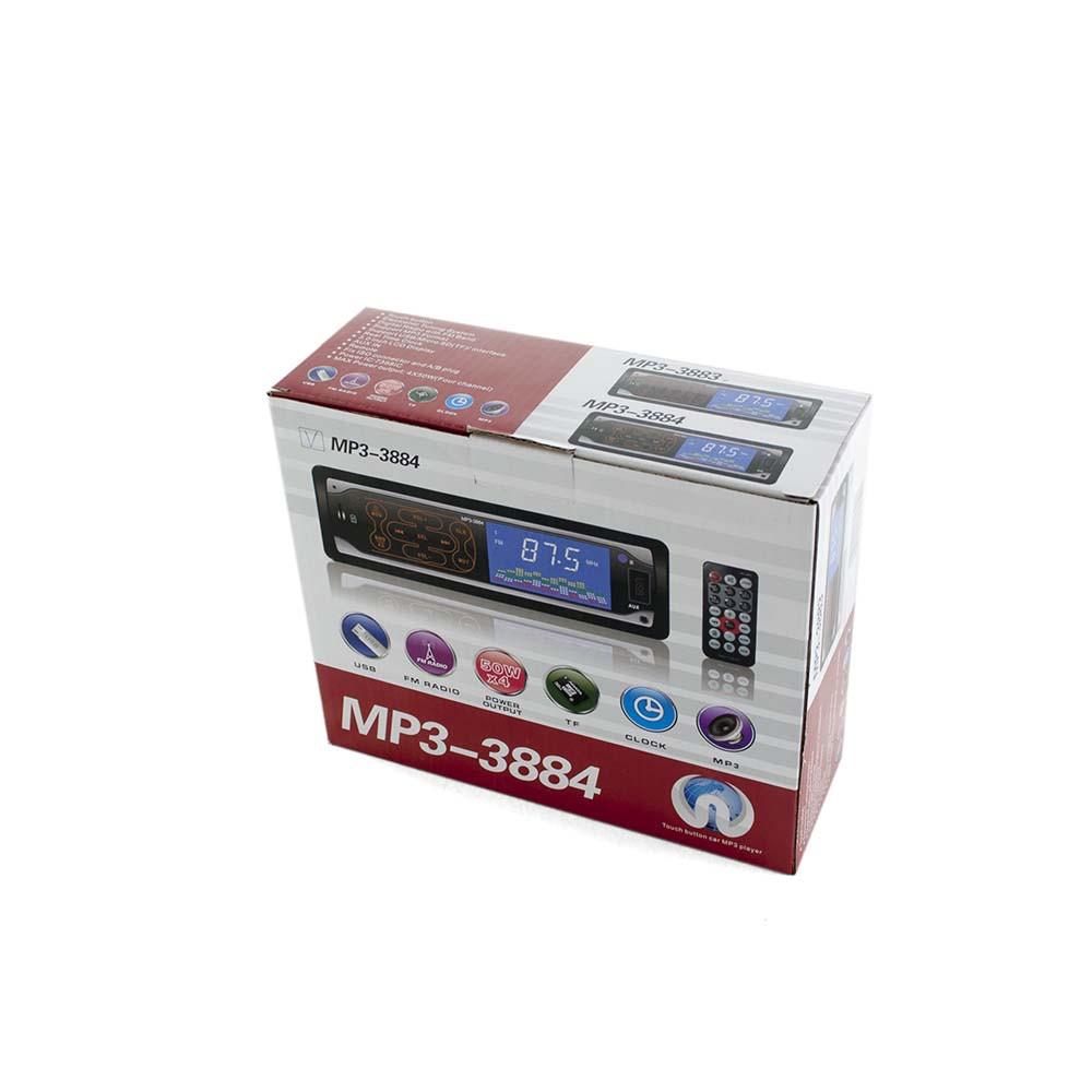 Автомагнитола MP3 3884 ISO 1DIN сенсор
