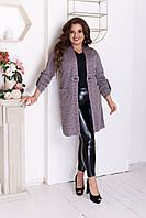 Кардиган довгий жіночий кольору лаванди великі розміри( з 50 по 60 розмір), фото 1