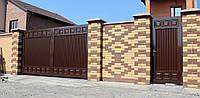 Ворота металлические распашные TM Hardwick ш4000 в2000 мм и калитка ш1000 в2000(дизайн Премиум)