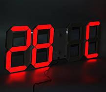 Настенные LED часы CHI-HAI красные, L1-B, фото 3