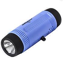Фонарик-колонка ZEALOT S1 Синий Bluetooth 5.0 IP 55 Мощность 3 Вт 4000 мАч, фото 2