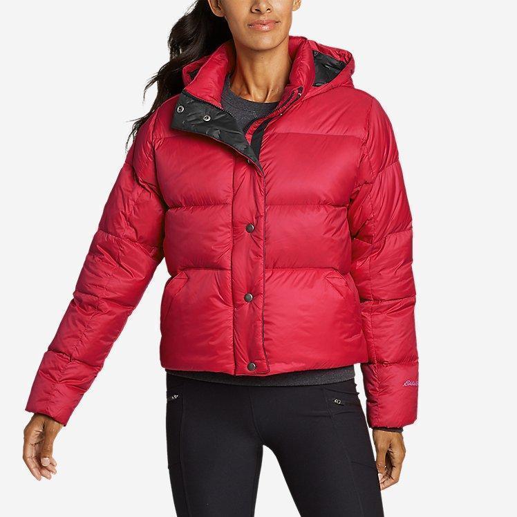 Ультра легкий пуховик Eddie Bauer Women's CirrusLite Down Puffer Jacket Cardinal M