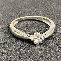 Золотое кольцо с фианитом 585 пробы,размер 16,5