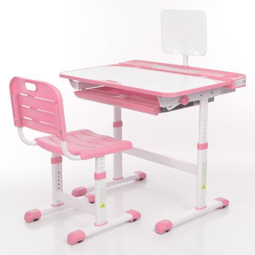 Парта + стул трансформеры Bambi M 3823A-8 Розовый
