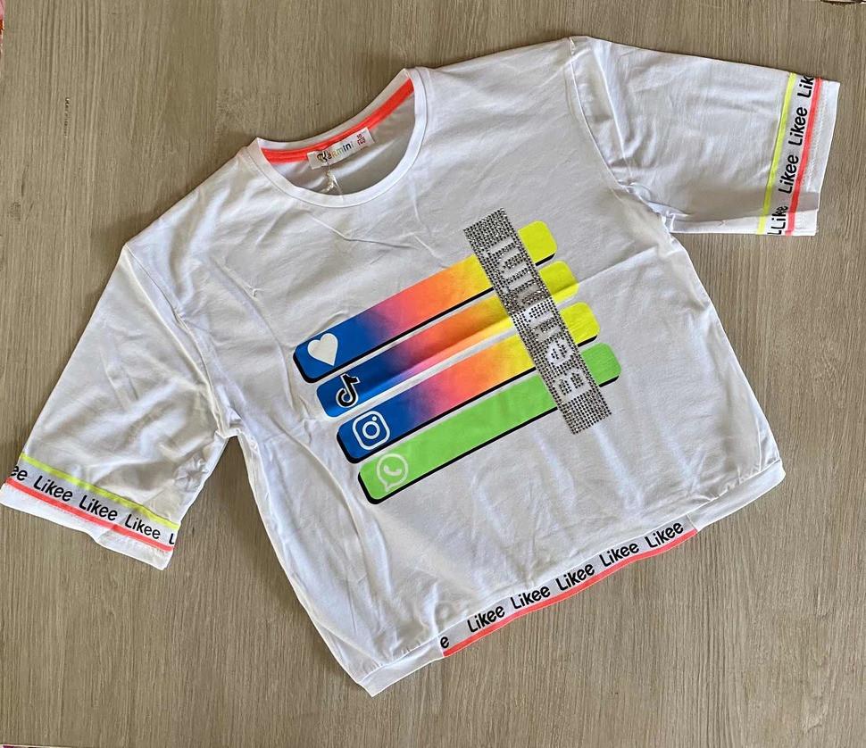 Детская футболка - топик 140-158 Likee  61436