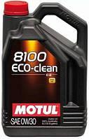 Моторное масло MOTUL 8100 ECO-CLEAN SAE 0W30 для бензиновых и дизельных двигателей 100% синтетическое