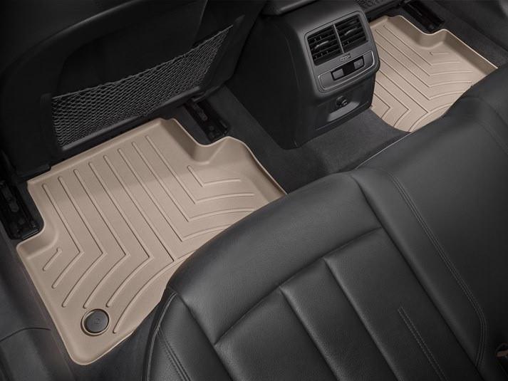 Ковры резиновые WeatherTech задние бежевые Audi A5 Sportback 16+