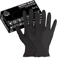 Перчатки нитриловые VitLUX Black 100шт РАЗМЕР ( М )