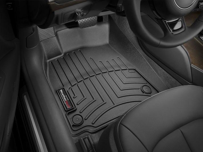 Ковры резиновые WeatherTech передние черные Audi A6 2012-2018
