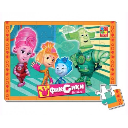 Пазлы мягкие 1102-04 А4 Фиксики 24 элемента (Vladi Toys)