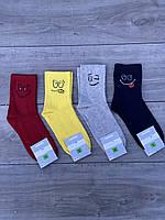 Чоловічі шкарпетки бавовна Montebello з веселими смайликами 40-45 12 шт в уп мікс 4 кольорів