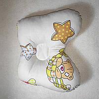Двухсторонняя подушка ортопедическая для новорожденного бабочка