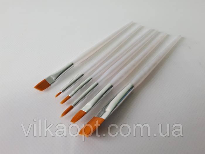 Пензлики кондитерські для пряників у наборі з 6-ти L 17 cm.