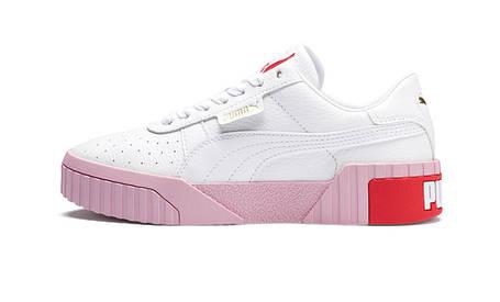 Жіночі кросівки Puma Cali White/Red/Pink, фото 2