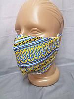 Хлопковая защитная маска вышиванка