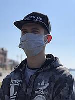 Маска защитная, трехслойная, серая | Защитные маски, упаковки по 25 и по 100 шт