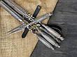 """Подарочный набор для шашлыка """"Ясень охота"""" с шампурами и вилкой, в кожаном колчане, фото 2"""