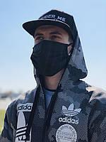 Маска защитная, трехслойная, черная | Защитные маски, упаковки по 25 и по 100 шт