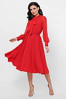 Легкое шифоновое платье с юбкой-полусолнце Аля-1