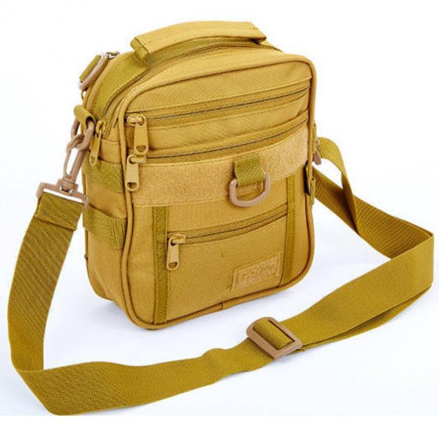 Тактическая сумка со съёмным наплечным ремнём (цвет койот)