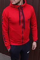 Спортивный костюм мужской весенний красный в стиле OFF-White. Кофта + штаны. Спортивний костюм чоловічий