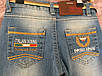 Голубые джинсы для девочки с поясом, фото 4