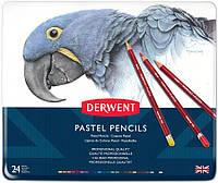 Набір пастельних олівців. Pastel Pencils Derwent в мет.короб. 24шт