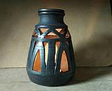 Підсвічник авторський глиняний з чоронодимленої кераміки, фото 5
