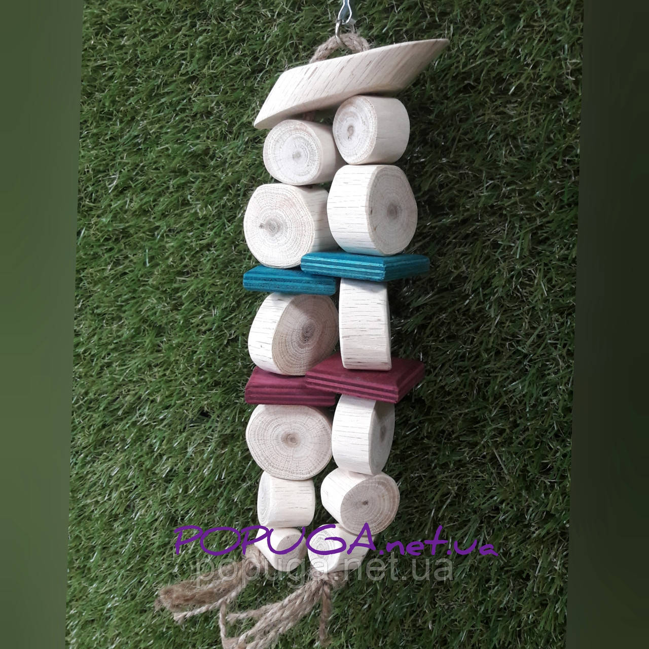 Деревянная игрушка для попугаев, 29 см
