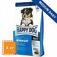 Сухой корм Happy Dog Medium Baby для щенков средних пород | корм для средних щенков | 4 кг