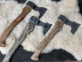 """Сокира ручної роботи """"Кабан"""", """"Лев"""", """"Вовк"""", """"Ведмідь"""" з дерев'яною ручкою"""
