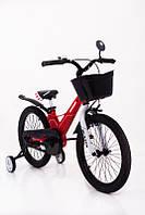 Детский Велосипед c облегченной рамой HAMMER HUNTER-1850D Красный с корзинкой Магниевый