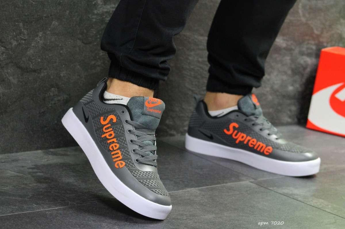 Мужские кроссовки серые Nike Supreme 7020