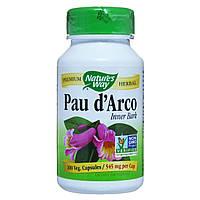 По Д'арко, (Кора Муравьиного Дерева), Pau d'Arco, Nature's Way, 545 мг, 100 капсул